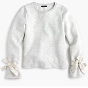 JCrew tie sleeve sweatshirt